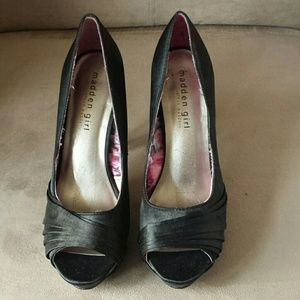Madden Girl Peep Toe Platforms with Studded Heel